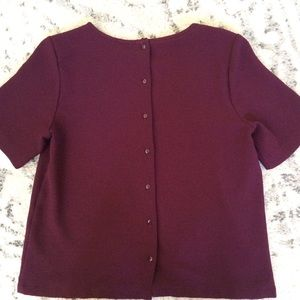 Forever 21 maroon blouse. Button up back.